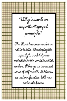 Why is work an important gospel principl sm