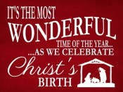 Wonderful time of the year…. Christs Birth