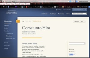 Come unto Him – Song