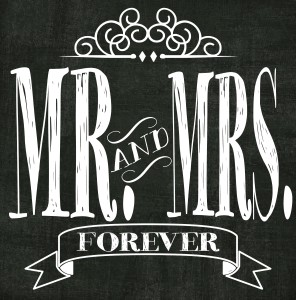 Mr & Mrs Printable Subway Art 12×12