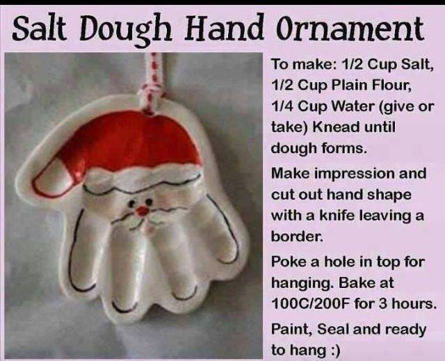Santa dough ornament