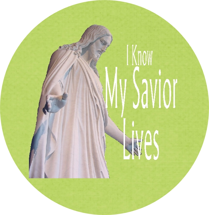 I Know My Savior Lives Bottle with image green RD