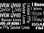 Make your own I Know My Savior Lives pens