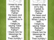 Prayer Reminders Bookmark