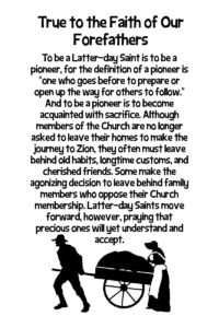 July HT Handout True to the Faith of Our Forefathers