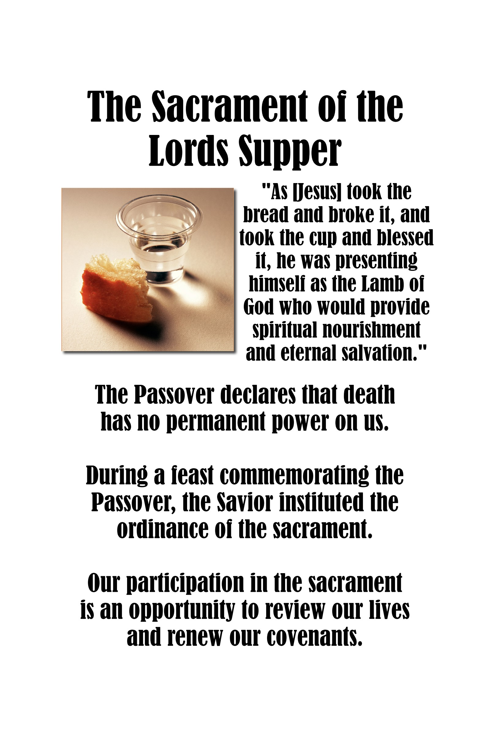 Chapter 15: The Sacrament of the Lord's Supper