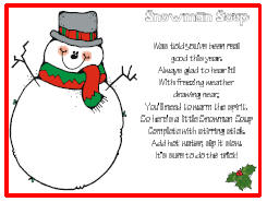 image relating to Snowman Soup Printable named Snowman Soup The Principle Doorway
