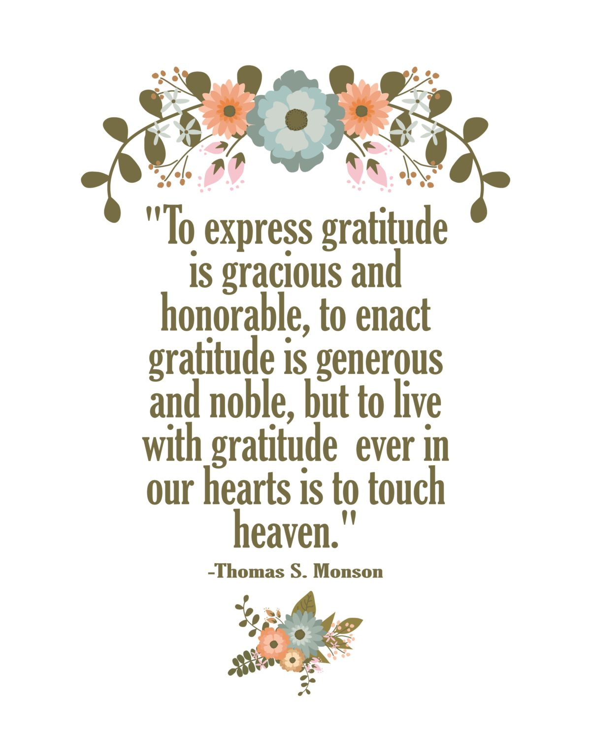 """To express gratitude is gracious and honorable… quote"