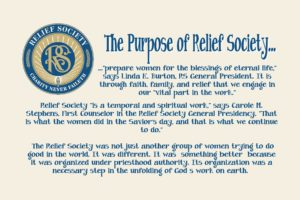 01 the purpose of relief society jan 2017 vt handout for Idea door relief society