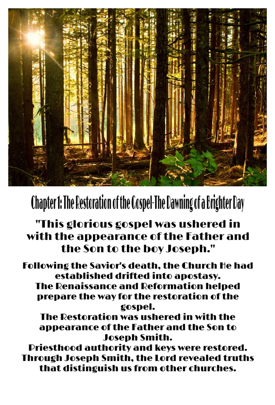 01-Chapter 1: The Restoration of the Gospel—The Dawning of a Brighter Day