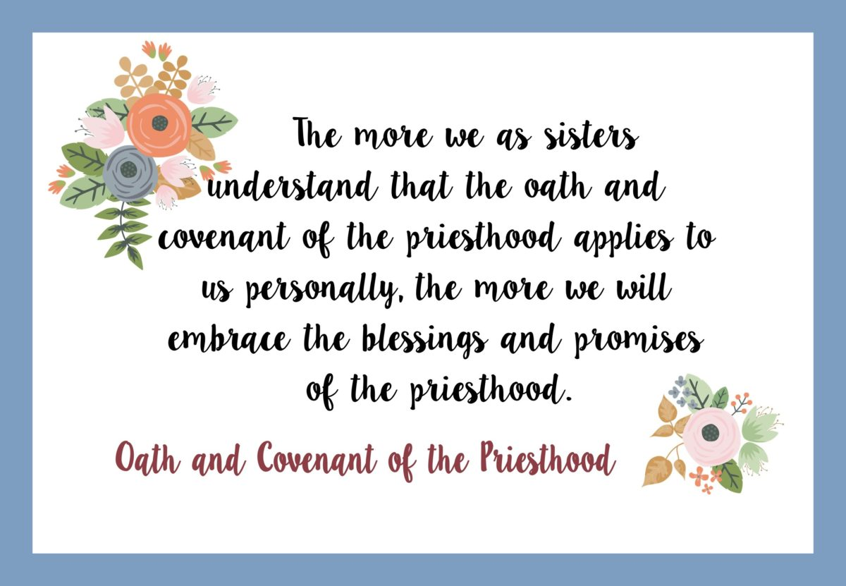 "04 April 2017 Visiting Teaching Handout ""Oath and Covenant of the Priesthood"""