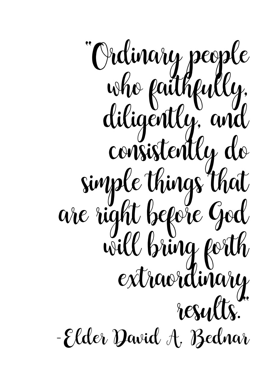 Ordinary people who faithfully…. quote