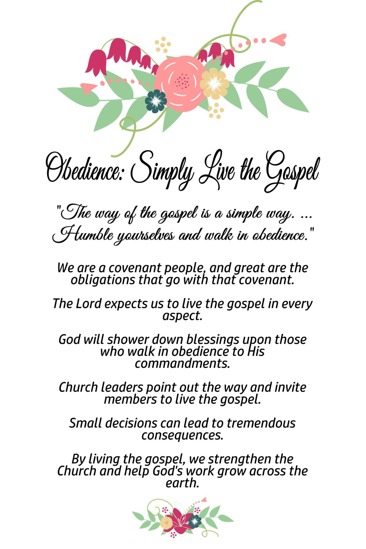 12-Chapter 12: Obedience: Simply Live the Gospel