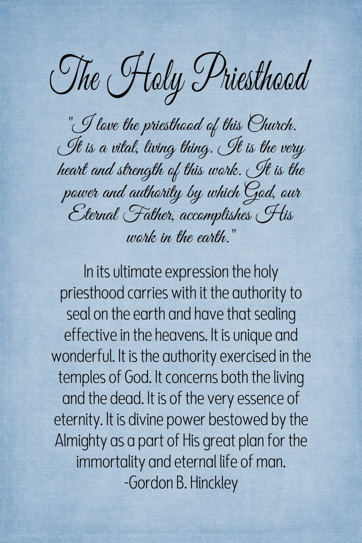 15- Chapter 15 The Holy Priesthood