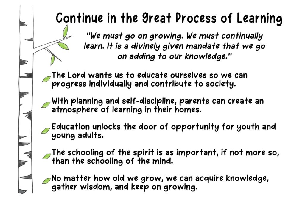 chapter continue in the great process of learning the