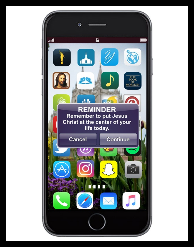 Remember to put Jesus Christ at the center of your life today. iPhone Reminder