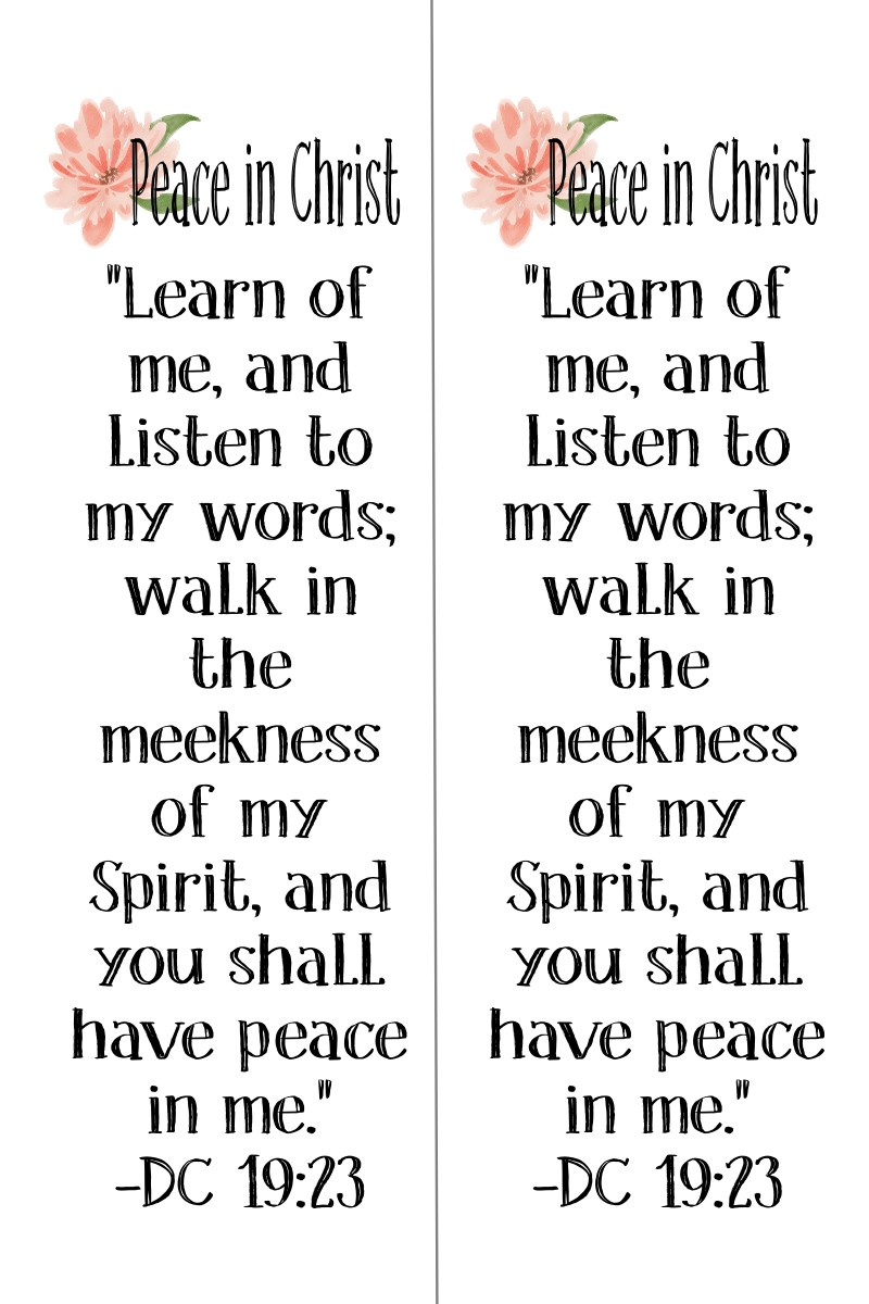 Peace in Christ Themed Bookmarks
