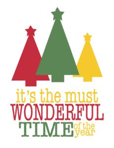 it s the most wonderful time of the year christmas tree s print