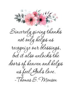 Sincerely giving thanks…quote
