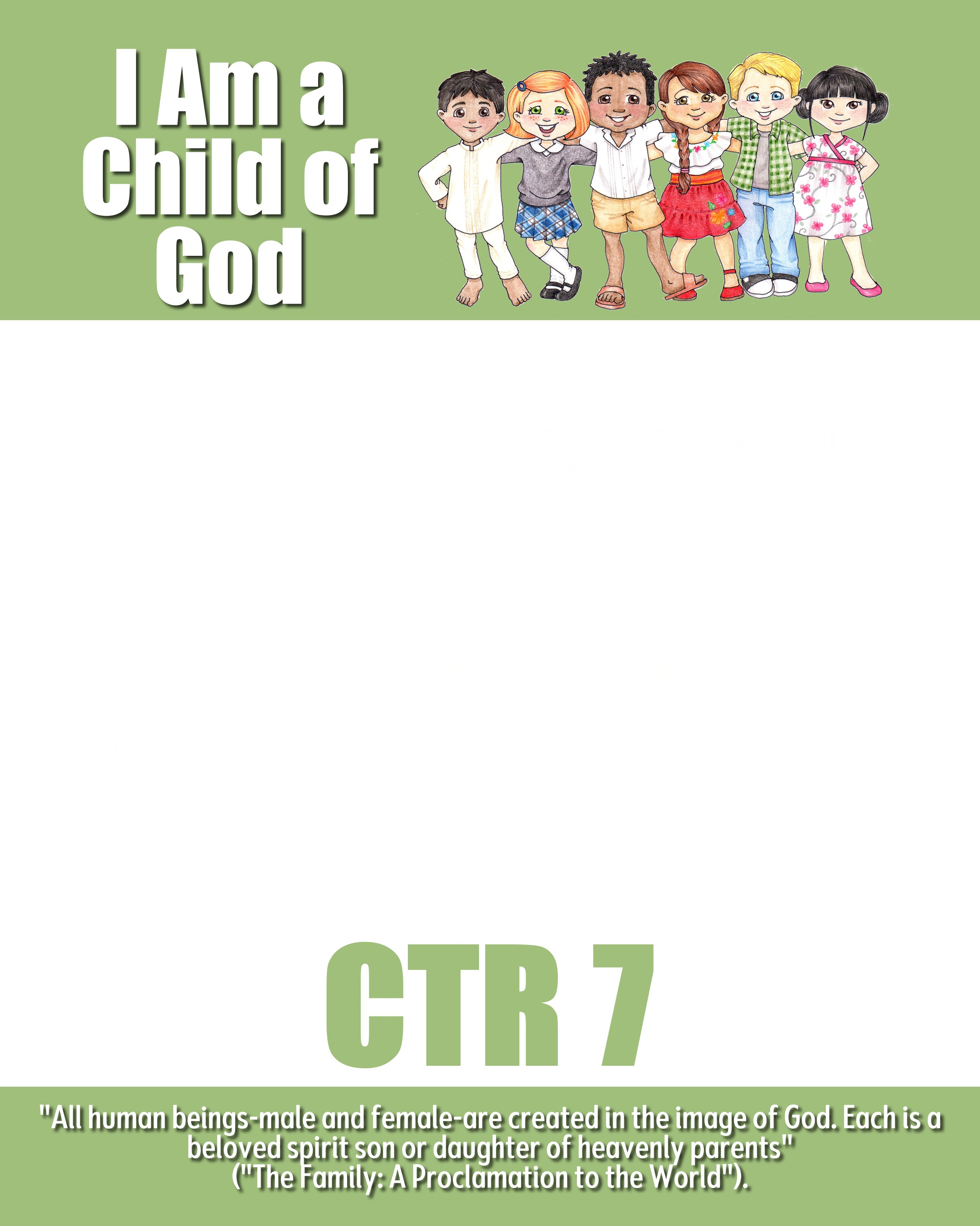 Binder covers and door signs i am a child of god the for Idea door yw