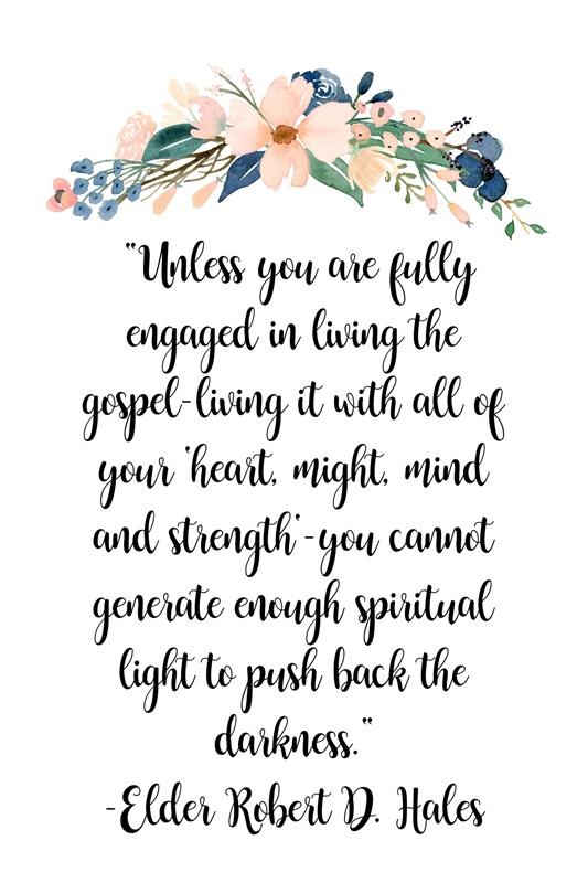 Unless you are fully engaged in living the gospel-living…quote