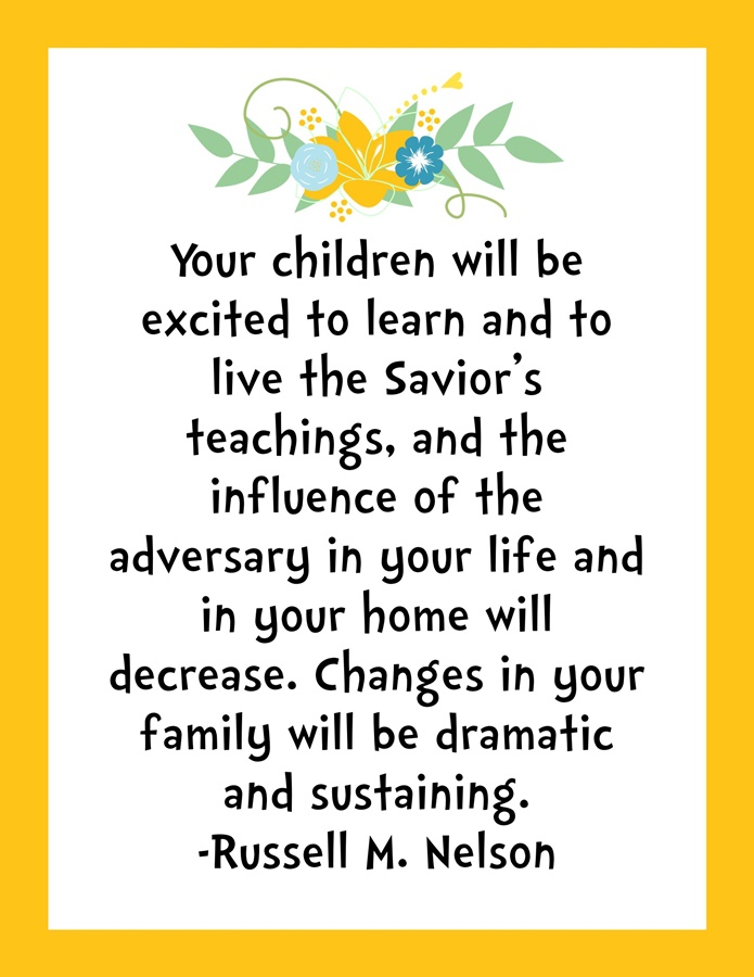 a1931b1f7578 Your children will be excited to learn…..quote by Russell M. Nelson ...