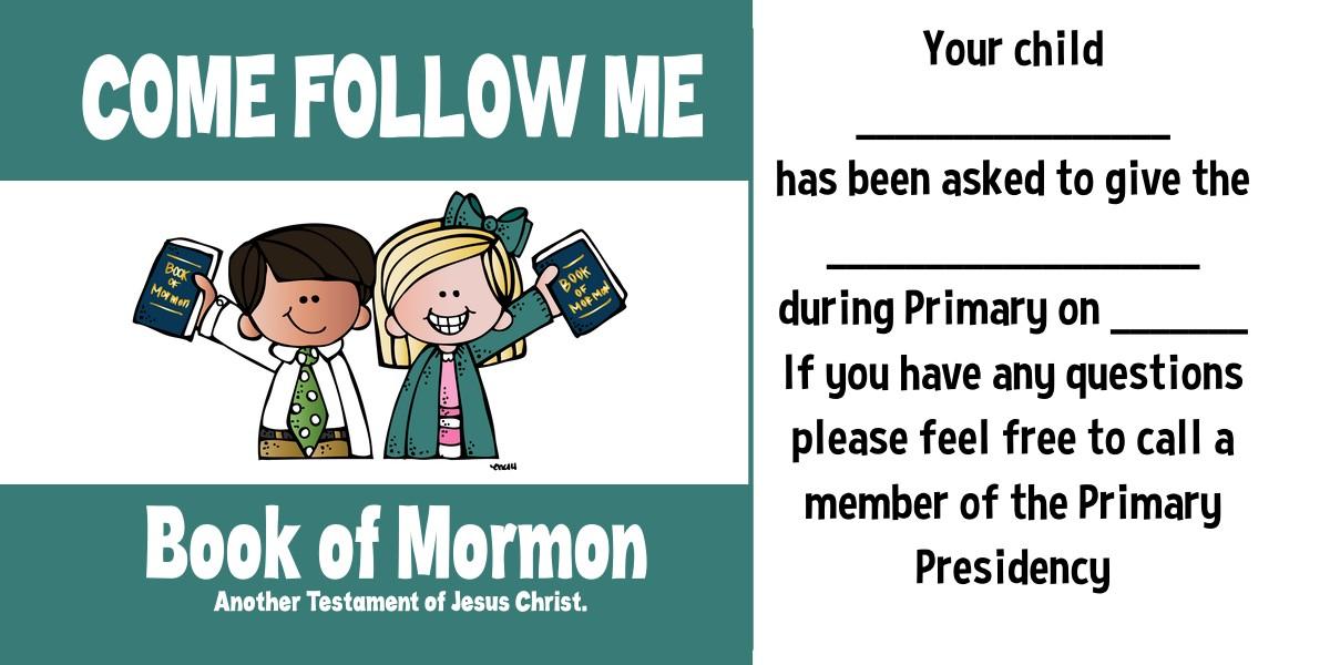 come follow me book of mormon 2020